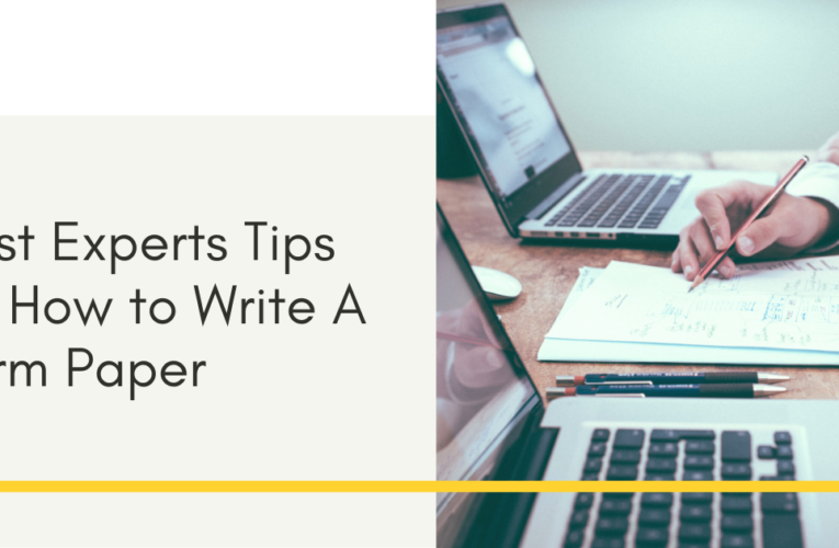 Best Experts Tips on How to Write A Term Paper